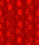 Red wavy background with flowers Royalty Free Stock Images
