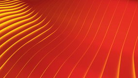 Red Wavy band surface stock footage