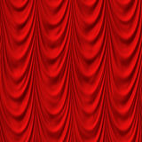 Red wavy curtain seamless Royalty Free Stock Photo