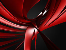 Red wavy curves. Abstract design background. 3d render illustration Royalty Free Stock Images