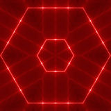 Red wavy Hexagon Stock Images