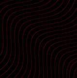 Red Wavy Lines on Black Royalty Free Stock Photography