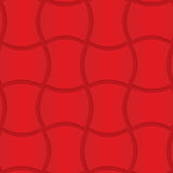 Red wavy rectangles. Seamless geometric background. 3D layered and textured pattern with realistic shadow and cut out effect Stock Photo