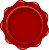 Red wax blank Stock Images