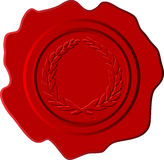 Red wax with crest Stock Photo
