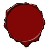 Red wax empty seal Stock Images