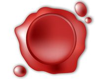 Red wax seal Stock Images