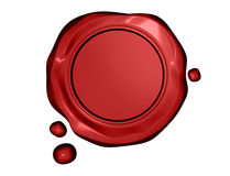 Red wax seal. vector illustration