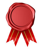 Red wax seal. Royalty Free Stock Photos