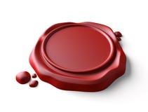 Red wax seal. Stock Photos