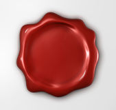Red wax seal. Wax seal with blank field (3D rendered illustration Stock Images