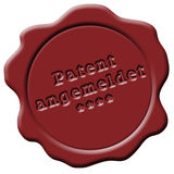 Red wax seal Royalty Free Stock Photo