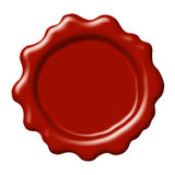Red wax seal Royalty Free Stock Image