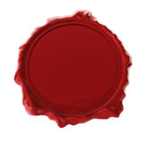 Red wax seal. Isolated on white 3D render Royalty Free Stock Images