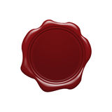 Red wax seal. Illustration of red wax seal with copy space Stock Photography
