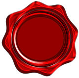 Red wax seal Stock Image