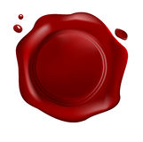 Red wax seal Royalty Free Stock Photography