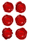 Red wax seal collections Stock Image