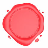 Red Wax Seal Illustration Stock Photo