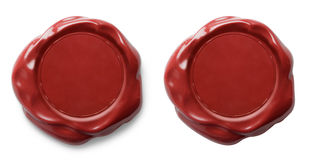 Red wax seal isolated Royalty Free Stock Image