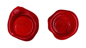 Red wax seal Royalty Free Stock Photos
