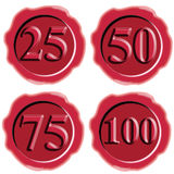 Red wax seal with numbers Stock Photo
