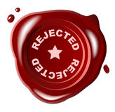 Red wax seal with REJECTED Royalty Free Stock Photography