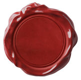 Red wax seal or signet isolated Royalty Free Stock Photo