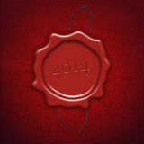 Red wax seal or stamp Stock Images