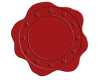 Red Wax Seal with Star Border Royalty Free Stock Images