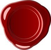 Red wax seal (vector) Royalty Free Stock Photos