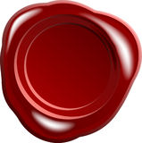 Red wax seal vector Royalty Free Stock Image