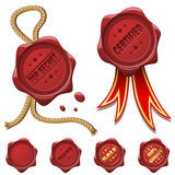 Red wax seals Royalty Free Stock Photos