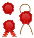 Red wax stamp vector illustration Stock Image