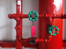 red 2 way wyes fire fighting couplings Royalty Free Stock Photography