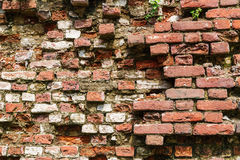 Red weathered old brick wall Royalty Free Stock Photography