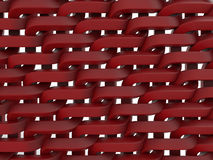 Red weave texture. 3D rendered illustration of a red weave texture. This is an abstract pattern and it is isolated on a white background Stock Photo