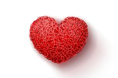 Red weaved heart Stock Image