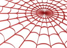 Red Web. Red 3d web, over white, isolated Royalty Free Stock Photos