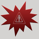 Red web button error Royalty Free Stock Photos