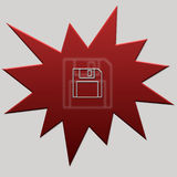 Red Web Button Floppy Royalty Free Stock Images