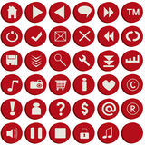 Red web buttons Royalty Free Stock Images