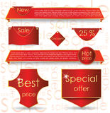 Red web design banner sale for website Stock Image
