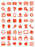 Red web icons for eshop Royalty Free Stock Image