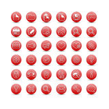 Red web icons Stock Photography