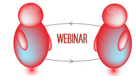 Red Webinar Icon Royalty Free Stock Image