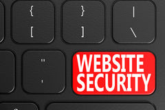Red website security button Stock Photography