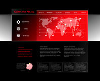 Red website template Royalty Free Stock Photos