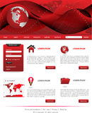 Red website templates Stock Photo