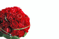 Red wedding bouquet. On white background Stock Photography